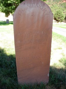 Tombstone of my 4th great grand uncle in Parowan, Utah