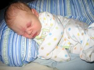 Sleeping peacefully (with storkbites)