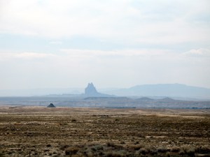 We were near Shiprock the city (town?) and less near Shiprock the rock.