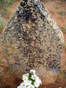 This hard-to-read tombstone is for Samuel Edward Lewis, my great-great-grandfather, the first to come to New Mexico.