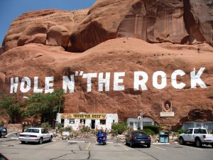It's near Moab, UT. And it has weird punctuation.