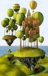 City in the Sky print by Teodoru Badiu { $36 }