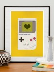 Retro Gameboy poster by Jan Skácelík { $20 }