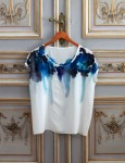 Silk inkblot tee by Rachel Rose { SOLD }